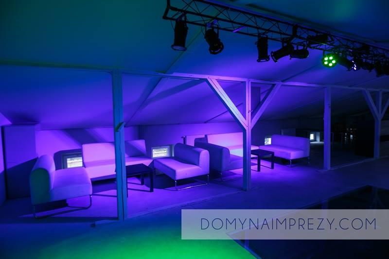 Oświetlenie i fotele imprezy w Warszawie