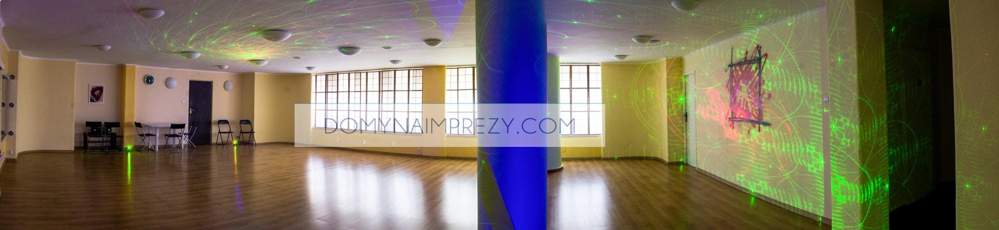 Panorama miejsca do tańczenia w lokalu